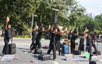 "Teatro Ekyumenikal performing a scene from - A SCENE from ""Maleta, Kahon, Karatula"""