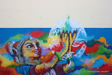 Wall Art in Little India, Singapore