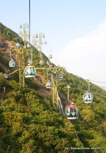 Cable Cars at Ocean Park, Hong Kong