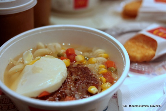 Macaroni Soup with Sausage and Hash Browns, McDonald's Hong Kong