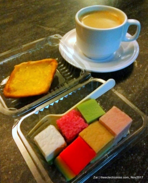 Kueh and Egg Tart from Singapore