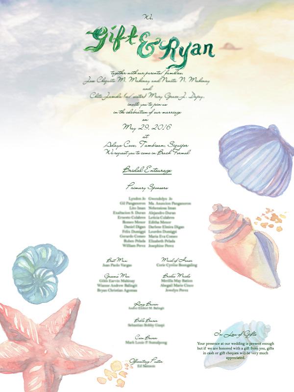 GIft+Ryan Wedding Invite