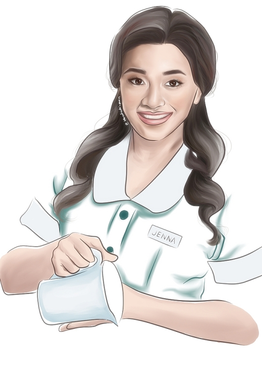 Joanna Ampil as Jenna in Atlantis Theatrical's Waitress