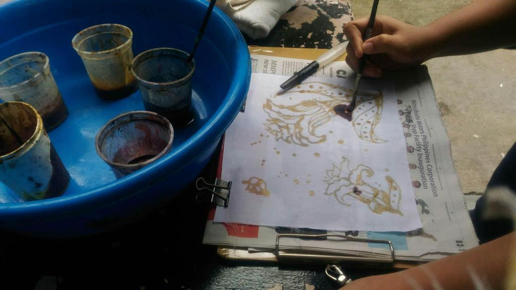 Batik Making Inking