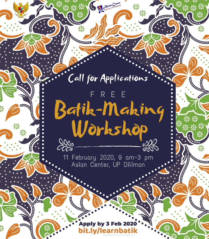 batik making workshop poster