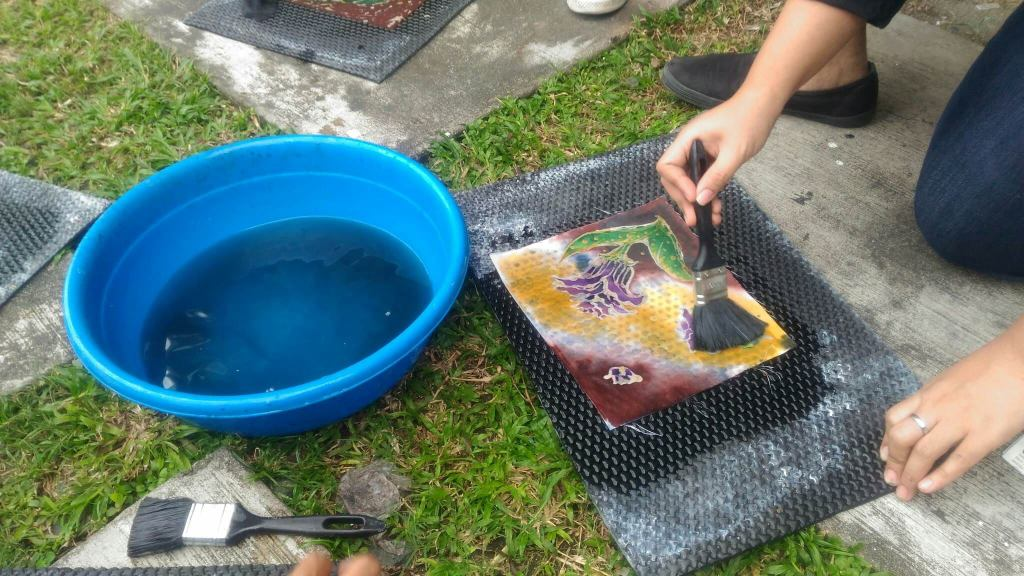 Batik Making Waterglass